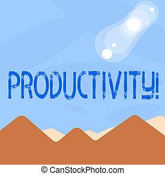 grande, concepto, palabra, eficaz, empresa / negocio, texto, trabajo, escritura, productivity., perforanalysisce, success.