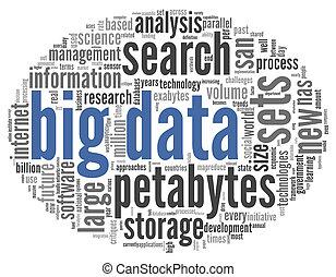 grande, concepto, palabra, nube, datos