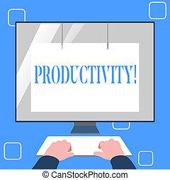 grande, concepto, success., eficaz, texto, trabajo, escritura, significado, escritura, productivity., perforanalysisce