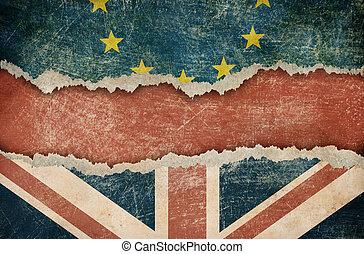 grande, concepto, unión, brexit, gran bretaña, retirada,...