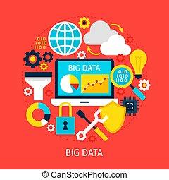grande, concetto, dati, appartamento