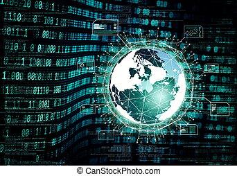 grande, concetto, dati, internet