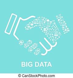 grande, concetto, dati
