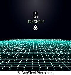 grande, concetto, disegno, dati