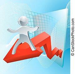 grande, concetto, risultati, affari