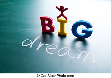 grande, concetto, sogno