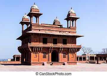 grande, construido, sikri, fatehpur, emperador, india, ...