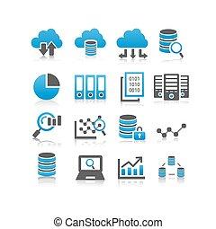 grande, dados, ícone