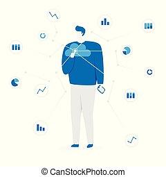 grande, dati, illustrazione