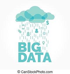 grande, dati, nuvola
