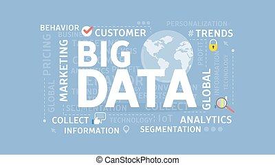 grande, datos, concept.