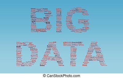 grande, datos, concepto