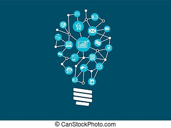 grande, datos, ideas, innovador