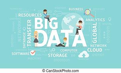 grande, datos, Ilustración