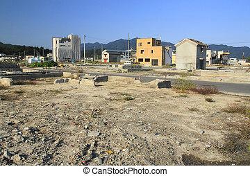 grande, desastre, japón, este, terremoto, recuperación