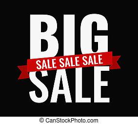 grande, desenho, venda, letras, arrojado