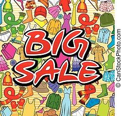 grande, desenho, venda