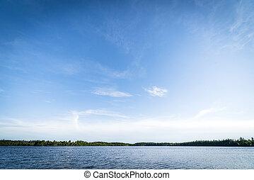 grande, dintorni, lago, puro, natura