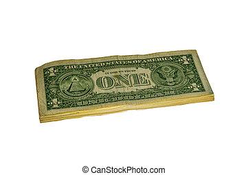 grande, dollari, mucchio