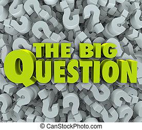 grande, domanda, parole, fondo, marchio