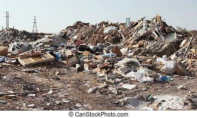 grande, dump lixo, desperdício