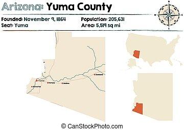 grande, e, detalhado, mapa, de, yuma, município, em, arizona