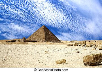 grande, egípcio, piramides