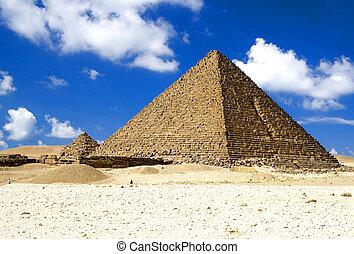 grande, egipcio, pirámides