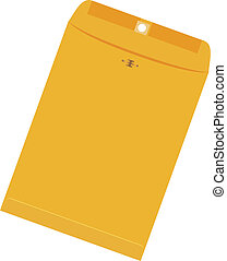 grande, envelope, amarela
