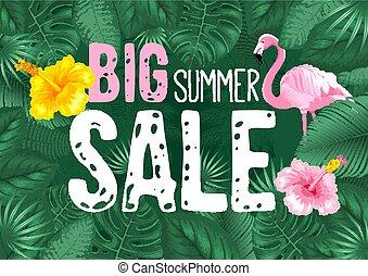 grande, estate, manifesto vendita