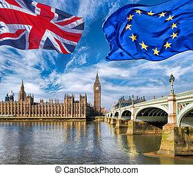 grande, europeo, ben, londra, contro, regno unito, o, brexit...
