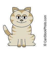 grande, eyed, gato