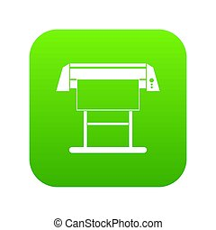 grande, formato, impresora chorro tinta, icono, digital, verde