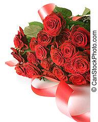 grande, grupo, rosas