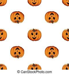 grande, halloween, patrón, coloreado, ilustración, tema