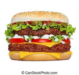 grande, hamburger, isolato, classico