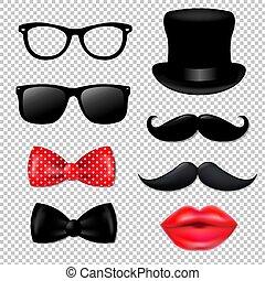 grande, hipster, colección