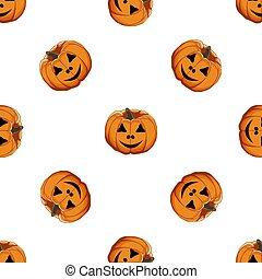 grande, ilustración, patrón, tema, coloreado, halloween