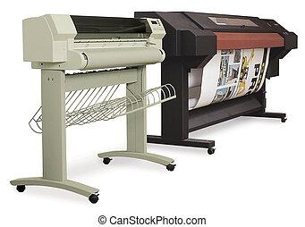 grande, ink-jet, formato, impressoras
