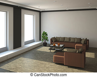 grande, interior, sala