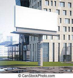 grande, interpretazione, tabellone, city., 3d