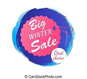 grande, invierno, venta, mejor, opción, vector, ilustración