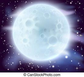 grande, lua cheia