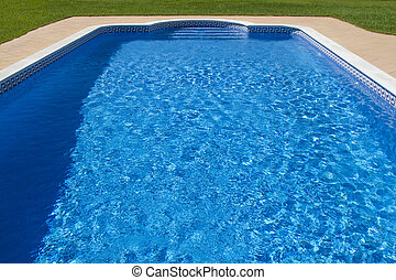 grande, lussuoso, stagno, nuoto