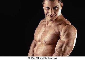 grande, músculos grandes