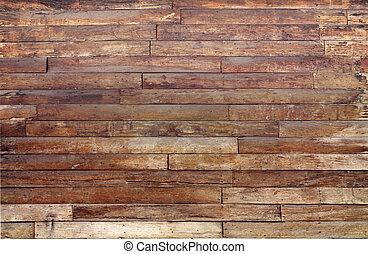 grande, madera, viejo, pared