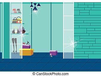grande magazzino, interno