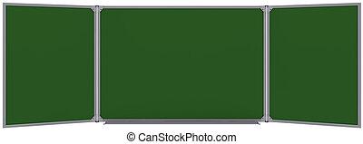 grande, magnetico, verde, asse