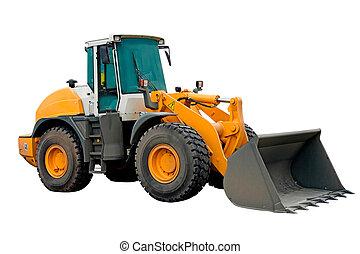 grande, maquinaria, excavador