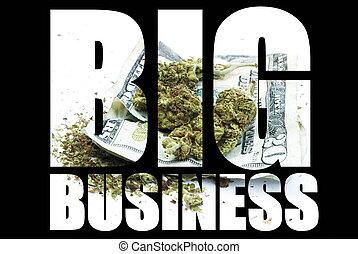 grande, marijuana, negócio